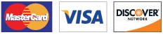 We Accept Mastercard, Visa and Discover
